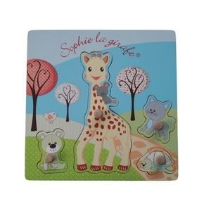 Sophie The Girafe Wooden Chunky Knobbed Toddler Puzzle